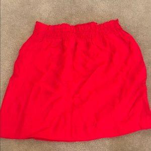 Red j. Crew skirt